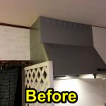 ピッピコーナーと換気扇をレンガ柄風に張り替えてみたよ。