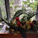 今回は豪華な生花を生けました