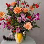 foxfaceのお花とココちゃんとのコラボ♪