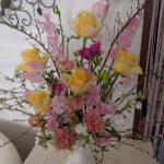 春爛漫のアレンジフラワー in 3月2017年
