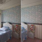 【DIY】ベッドルームの壁紙と床貼り、そしてガラスにシール