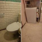 7月のDIY作業(洗面所)床材を貼ったよ♪トイレの便座も交換