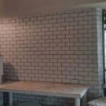 【DIY】キッチン周辺にホワイトレンガ風の壁紙(ブルックリンスタイル)