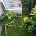 片側半分のベランダ人工芝ロールを完成!10月なのにまだまだ暑い(汗)